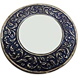 Decorative Mirror Indian Vintage Style Home Decor Table Top Antique Mirror Women Cosmetic Pouches Metal Art Work...