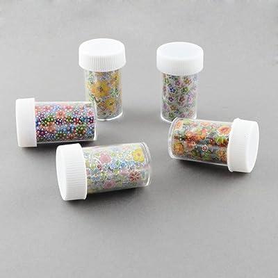PEPPERLONELY Brand Box of 12 Bottles Nail Art Transfer Foil Nail Sticker Tip Decoration