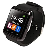 Ruichenxi  U8 Bluetooth 4.0 Smart Watch Podomètre Smartwatch Connectée Bluetooth Montre Intelligente Ecran Tacticle pour iPhone et Android Smartphone (Noir)