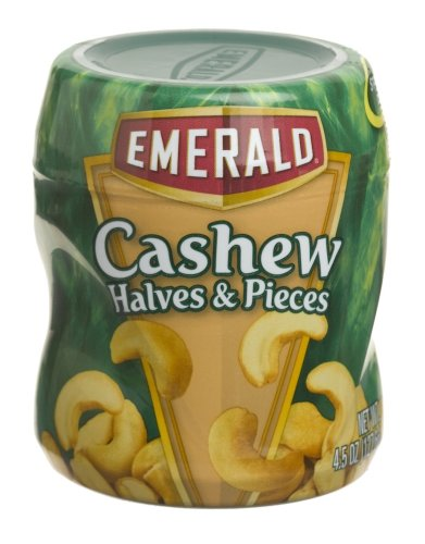 Buy Emerald Nuts Cashew Halves & Pieces, 4.5-Ounce Canisters (Pack of 12) (Emerald Nuts, Health & Personal Care, Products, Food & Snacks, Baking Supplies, Nuts & Seeds)