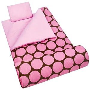Wildkin Big Dots - Pink Sleeping Bag (66 X 30