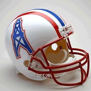 Houston Oilers 1981-96 Throwback Riddell Deluxe Replica Helmet by Caseys