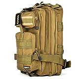 Eyourlife Sport Outdoor Military Rucksacks Tactical Molle Backpack Camping Hiking Trekking Bag-Tan