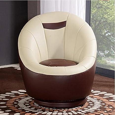 Moderno minimalista salotto in pelle poltrona sacco divano studio Ufficio poltrona del computer in legno massello di rotazione sedia piccolo divano sedia casuale del computer ( colore : # 4 )