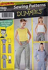 Amazon.com: Sewing Patterns for Dummies Simplicity 9886 Sewing Pattern Teens ...