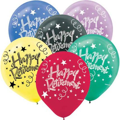 Happy Retirement 12in Balloons 15ct