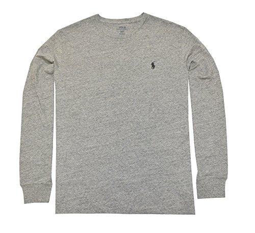 Polo Ralph Lauren Men's Crew Neck Long Sleeve Tee (Small, Dark Vintage) (Ralph Lauren Clothing compare prices)