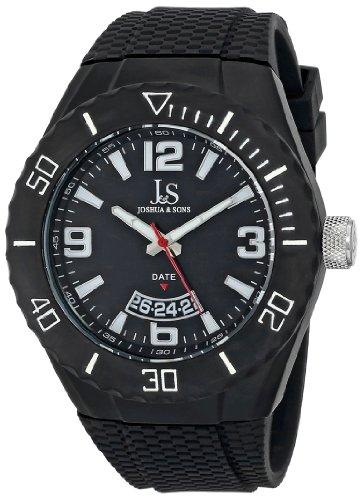 Joshua & Sons Reloj Pantalla analógica cuarzo suizo Negro para hombre
