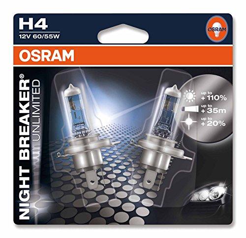OSRAM-NIGHT-BREAKER-UNLIMITED-H4-Lampada-alogena-per-proiettori-64193NBU-02B-110-in-pi-di-luce-20-pi-bianca-in-Blister-doppio