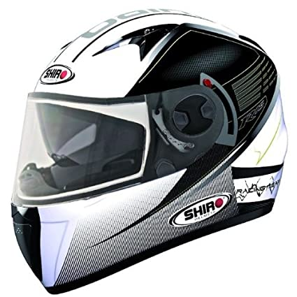 Casque moto intégral SHIRO SH-3700 R15 - Double écran - Blanc / Noir