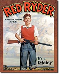 "Daisy Red Ryder Metal Tin Sign 12.5""W x 16.5""H"