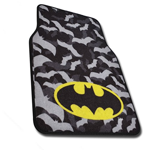 Batman Super Hero Carpet Floor Mats 4 Piece Warner Brothers Licensed Products at Gotham City Store