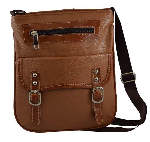 Gc-Giannicarlo Fashion Collection, Faux Leather Women'S/Girls Cross Body Bag (Beige)