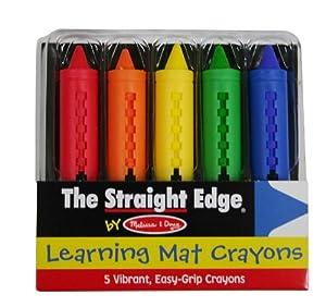 Melissa & Doug Learning Mat Crayons, 5 Colors