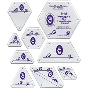 Perfect Patchwork Template Set G, Small Hexagon Set, Package of Nine
