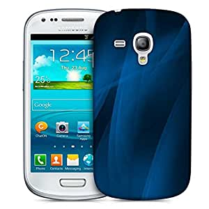 Snoogg Blue Smoke Wave 2436 Designer Protective Back Case Cover For Samsung Galaxy S3 Mini