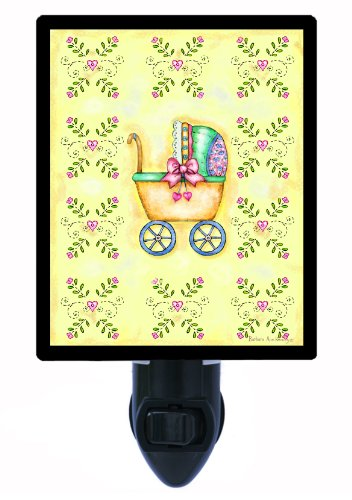 Baby Welcome Night Light - Baby Carriage Led Night Light front-1036284