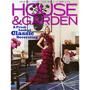 House &amp; Garden Magazine November 2006 Special Isuse:The Well-Lived Life Princess Marie-Chantal of Greece