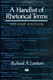A Handlist of Rhetorical Terms (0520076699) by Richard A. Lanham