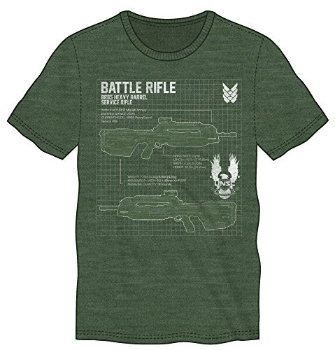 Halo 5 Maglia T Shirt Battle Rifle Size L Bioworld