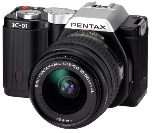 Pentax K-01 Compact System Camera with 18-55mm Lens Kit - Black