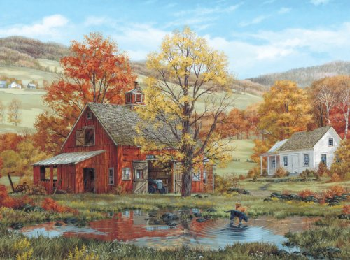 White Mountain Friends in Autumn - 1000 Piece Jigsaw Puzzle