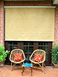 HIPPO Outdoor Curtain - Roller Blind - 4ft x 4.5ft - Beige Brown (Accessories Included)