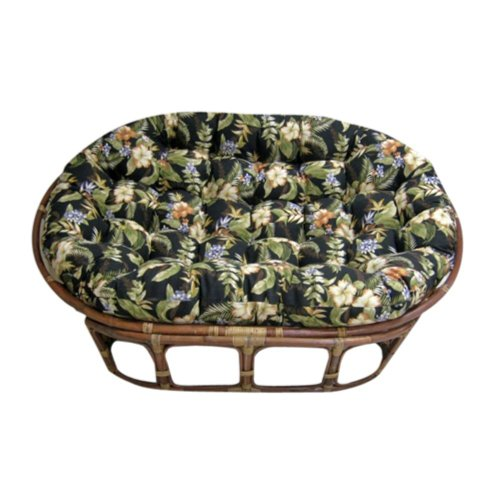 Blazing Needles 60 Inch Outdoor Double Papasan Cushion front-483802