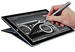 Navitech Grey Fine Point Digital Active Stylus Pen Compatible With Microsoft Surface Pro 3 / Microsoft Surface 3 / Microsoft Surface Pro 3 / Microsoft Surface 2 / Microsoft Surface Pro 2