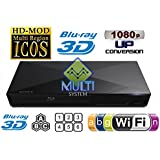 Sony S5200 2D/3D Blu Ray and DVD Player with Wifi, US and EU Connectors, and 6ft HDMI Cable (Bundle)