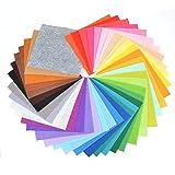 [Jammin] 40色 セット カラー フェルト 30㎝×30㎝ 大容量 厚さ1.0mm 手芸 材料