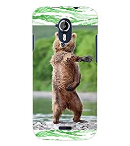 ColourCraft Dancing Bear Design Back Case Cover for MICROMAX CANVAS MAGNUS A117