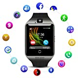 QIMAOO Q18 Smart Watch Smartwatch Sports Fitness Tracker Bluetooth Wrist Watch with Camera TF/SIM Card Slot for Men Women