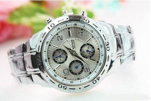 Bestim Inc 2014 Classical Mens Stainless Steel Quartz Analog Hand Sport Wrist Watch