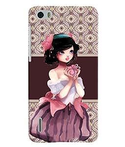Fuson 3D Printed Girly Designer back case cover for Huawei Honor 6 - D4363