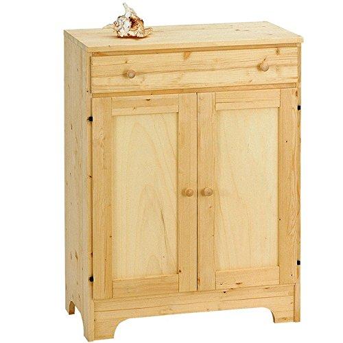 Mobile base per elettrodomestici in legno massello grezzo abete 66x37x90