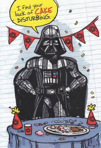 Greeting Card Birthday Star Wars Humor