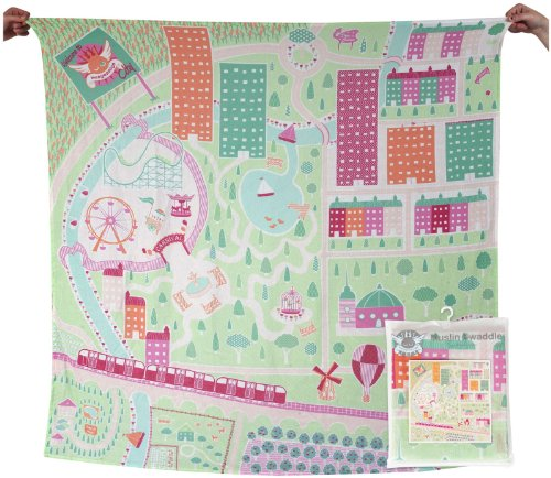 Weegoamigo Digital Printed Muslin - Weego City