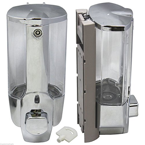 350ml Wall Mount Soap Sanitizer Bathroom Washroom Shower Shampoo Dispenser NEW (Soap Dispenser Shower Head compare prices)
