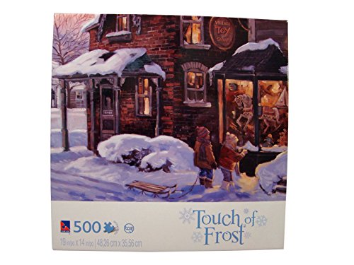 Touch of Frost 500 Piece Jigsaw Puzzle: Village Toy Shoppe