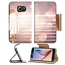 buy Msd Samsung Galaxy S6 Flip Pu Leather Wallet Case Young Child Standing Near Fence At Sea Side Dreamy Bokeh Lights Effect Image 23956552 Prot