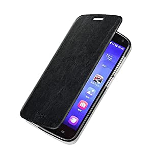 mofi Slim Leather Flip Cover Case For Huawei Honor Holly (Black)