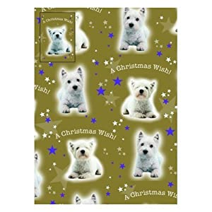Westie Dog Christmas Wrapping Paper A Christmas Wish