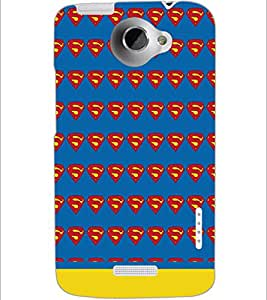PrintDhaba Pattern D-1546 Back Case Cover for HTC ONE X (Multi-Coloured)