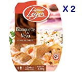 French Veal Stew With Rice Claude Leger-Blanquette De Veau Et Son Riz-2 Plate Pack