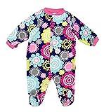 Fleece Baby Onesie Sleepsuits Boys Girls 6 9 months Floral Navy
