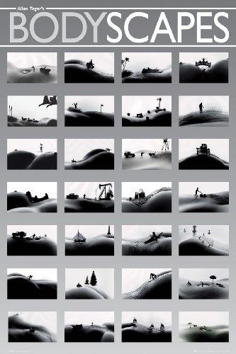 Black & White - Bodyscapes - Akt Poster Erotik Poster nackte hot Girls schöne Frauen - Grösse 61x91,5