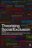 img - for Theorising Social Exclusion book / textbook / text book