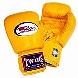 Twins ボクシンググローブ 本革製 8オンス イエロー