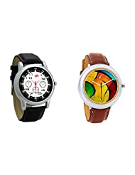 Gledati Men's Black Dial And Foster's Women's Multicolor Dial Analog Watch Combo_ADCOMB0001851